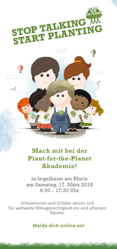 Plant for the Planet Flyer Vorderseite